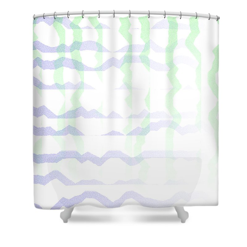 Abstract Shower Curtain featuring the digital art 5040.24.8 by Gareth Lewis