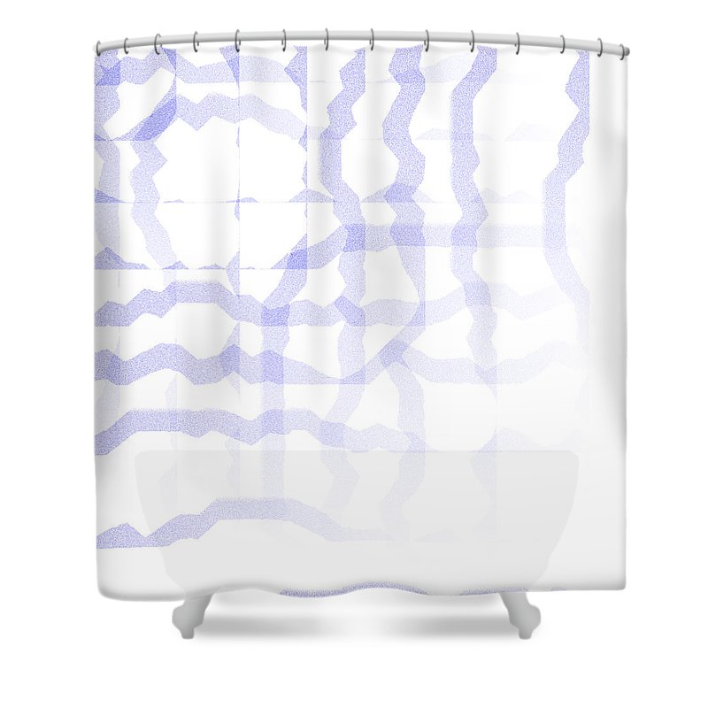 Abstract Shower Curtain featuring the digital art 5040.24.9 by Gareth Lewis