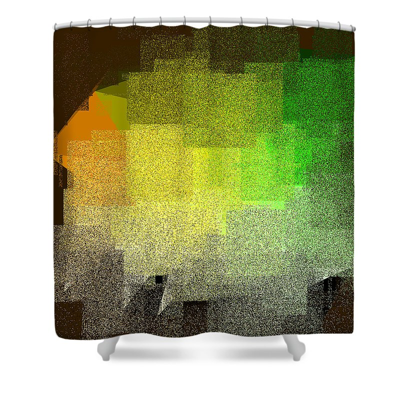 Abstract Shower Curtain featuring the digital art 5120.5.21 by Gareth Lewis