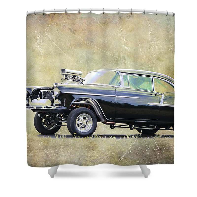 55 Chevy Gasser Shower Curtain
