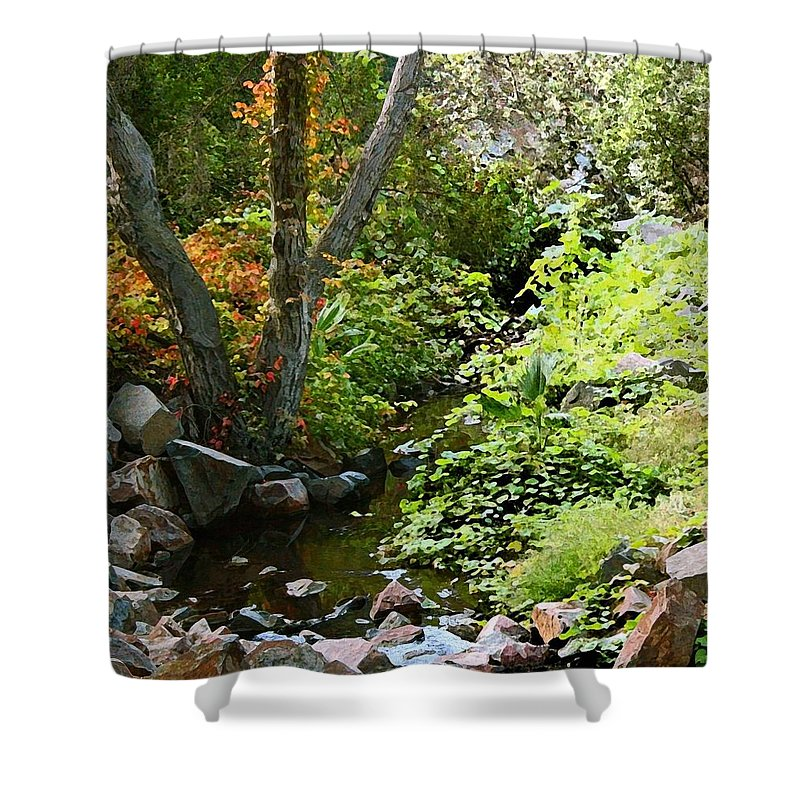 A Quiet Place Shower Curtain featuring the painting A Quiet Place by Ellen Henneke