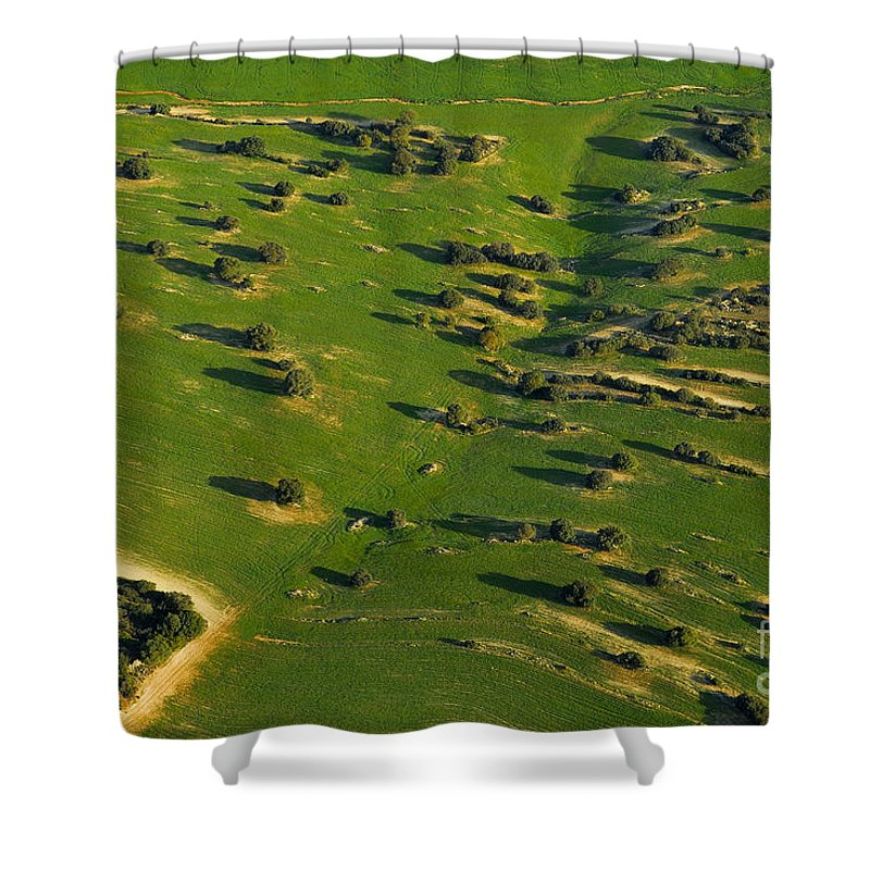 Aerial Photo Shower Curtain featuring the photograph Aerial Geometries by Guido Montanes Castillo