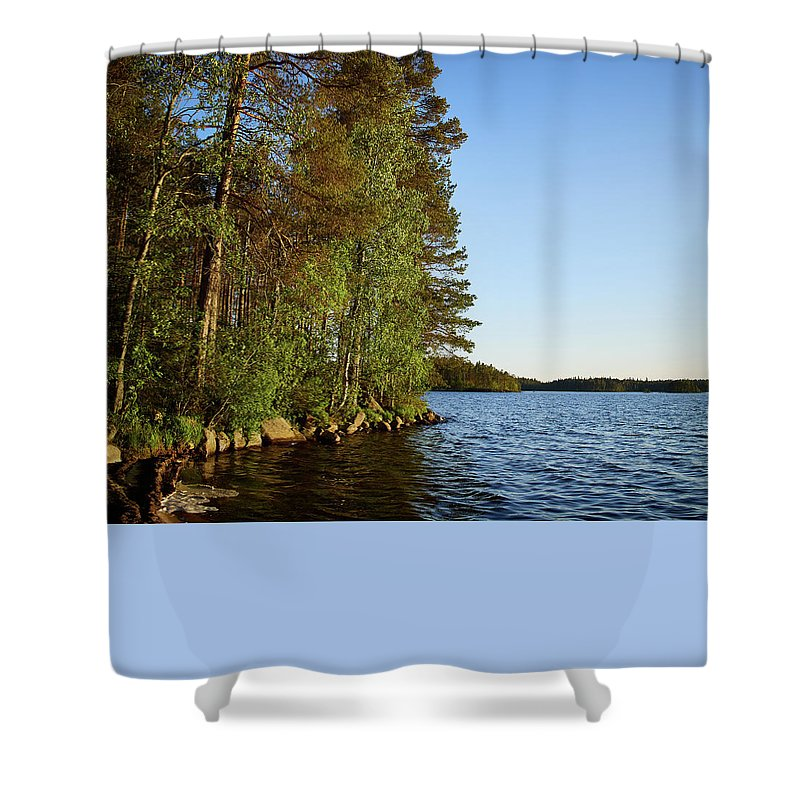 Lehto Shower Curtain featuring the photograph Haukkajarvi by Jouko Lehto