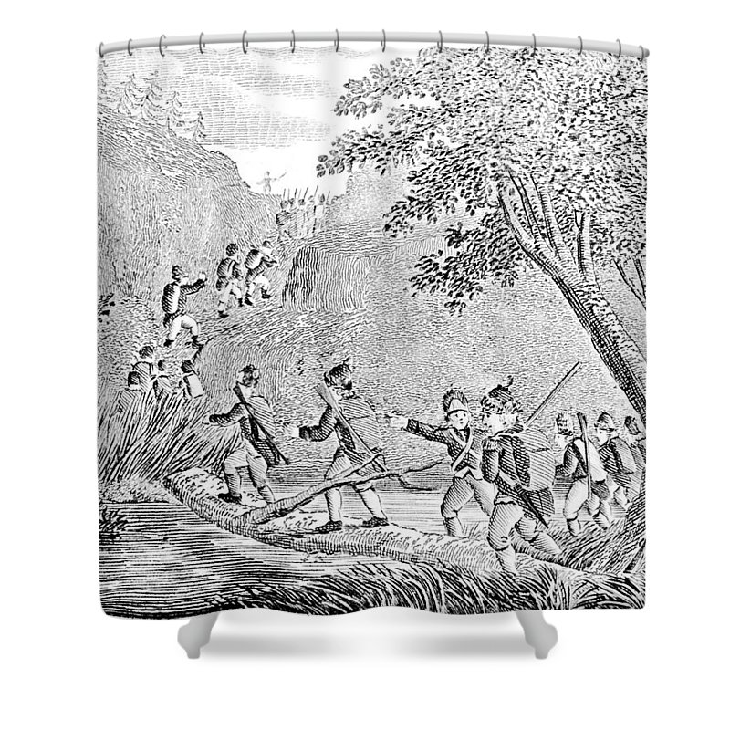 1775 Shower Curtain featuring the photograph Quebec Expedition, 1775 by Granger