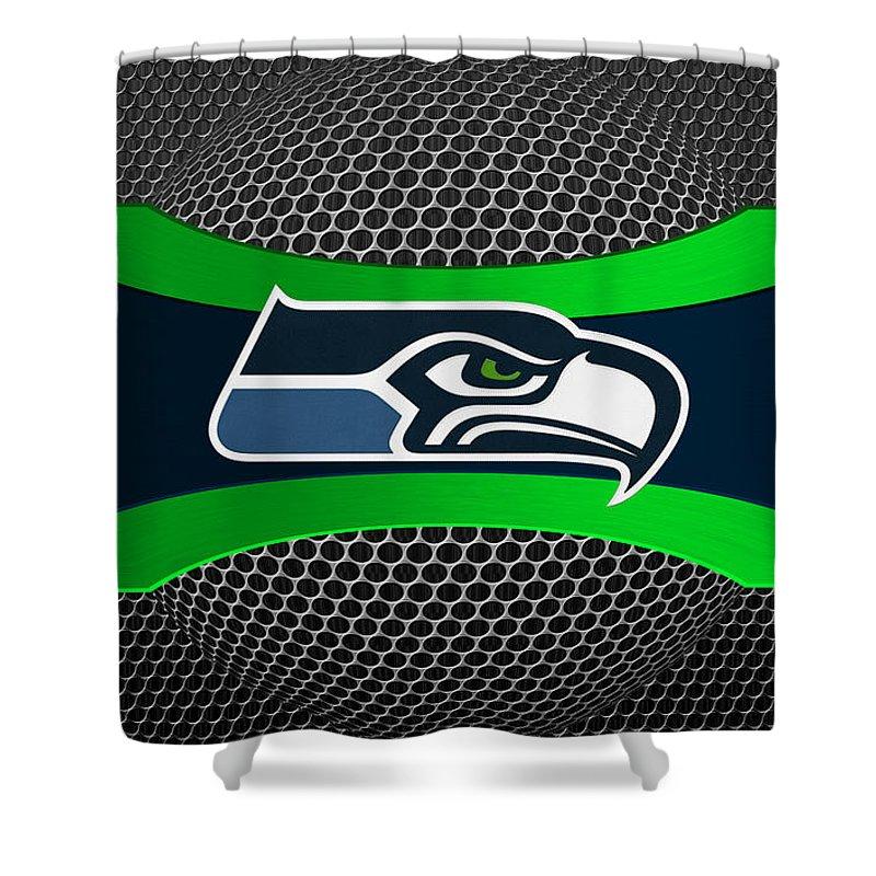 Seahawks Shower Curtain featuring the photograph Seattle Seahawks by Joe Hamilton