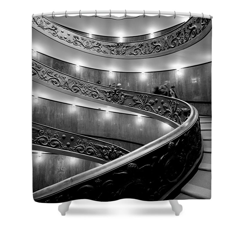 2013. Shower Curtain featuring the photograph The Vatican Stairs by Jouko Lehto