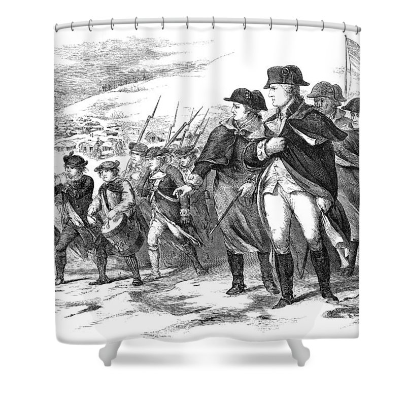 1777 Shower Curtain featuring the photograph Washington: Valley Forge by Granger
