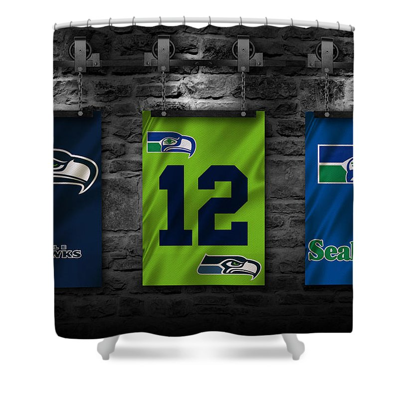 Seahawks Shower Curtain featuring the photograph Seattle Seahawks by Joe Hamilton