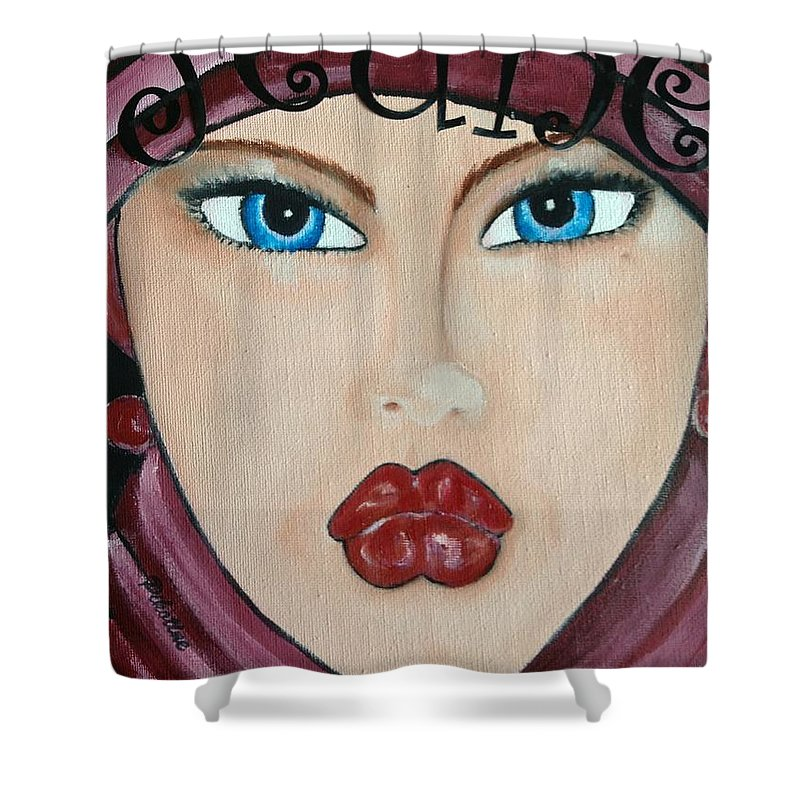 Pikotine Shower Curtain featuring the painting Pikotine Art by Pikotine Art