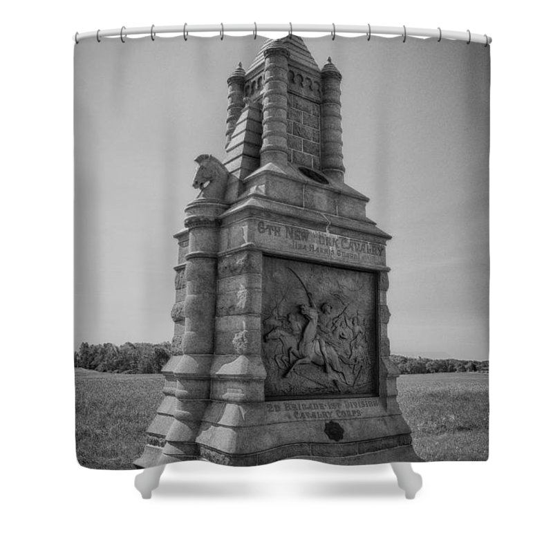 American Civil War Shower Curtain featuring the photograph 6th New York Cavalry 7d02260 by Guy Whiteley