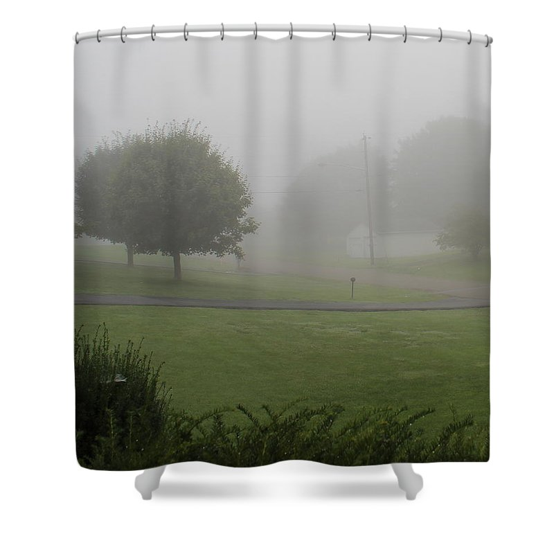 Misty Shower Curtain featuring the photograph 7 A M Fog by Kume Bryant