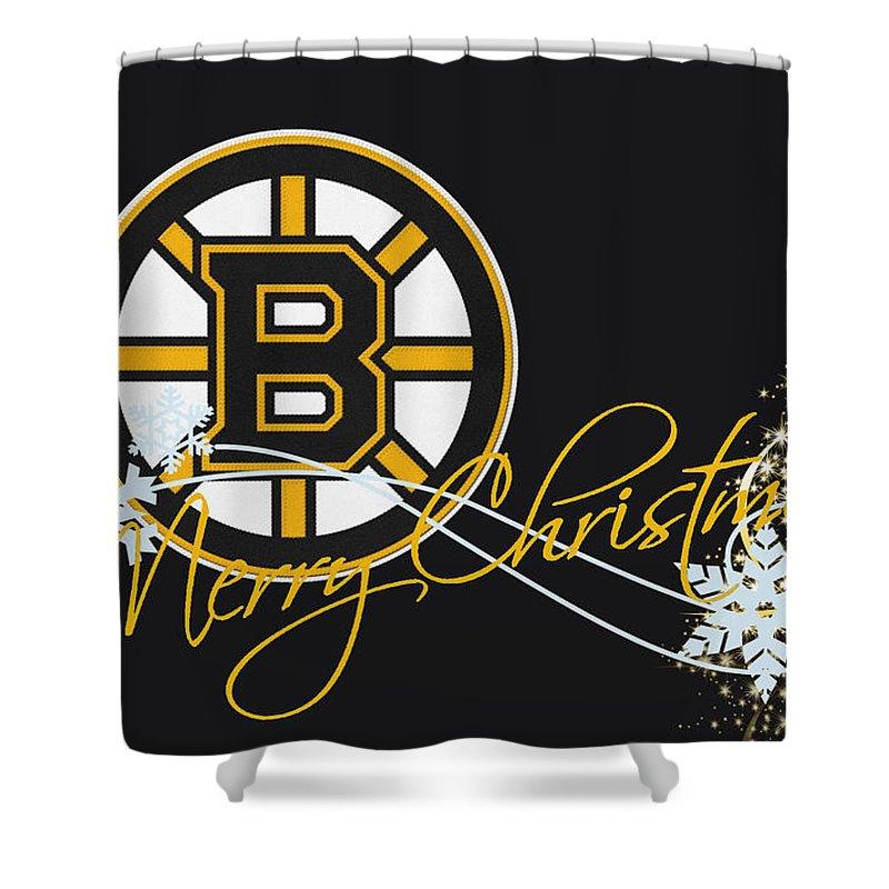 Bruins Shower Curtain featuring the photograph Boston Bruins by Joe Hamilton