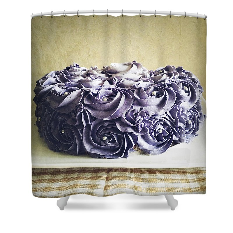 Icing Shower Curtain featuring the photograph Cake by Les Cunliffe
