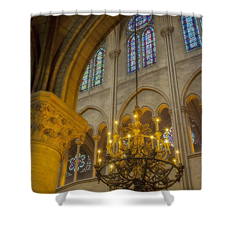 Arch Shower Curtain featuring the photograph Cathedral Notre Dame by Brian Jannsen