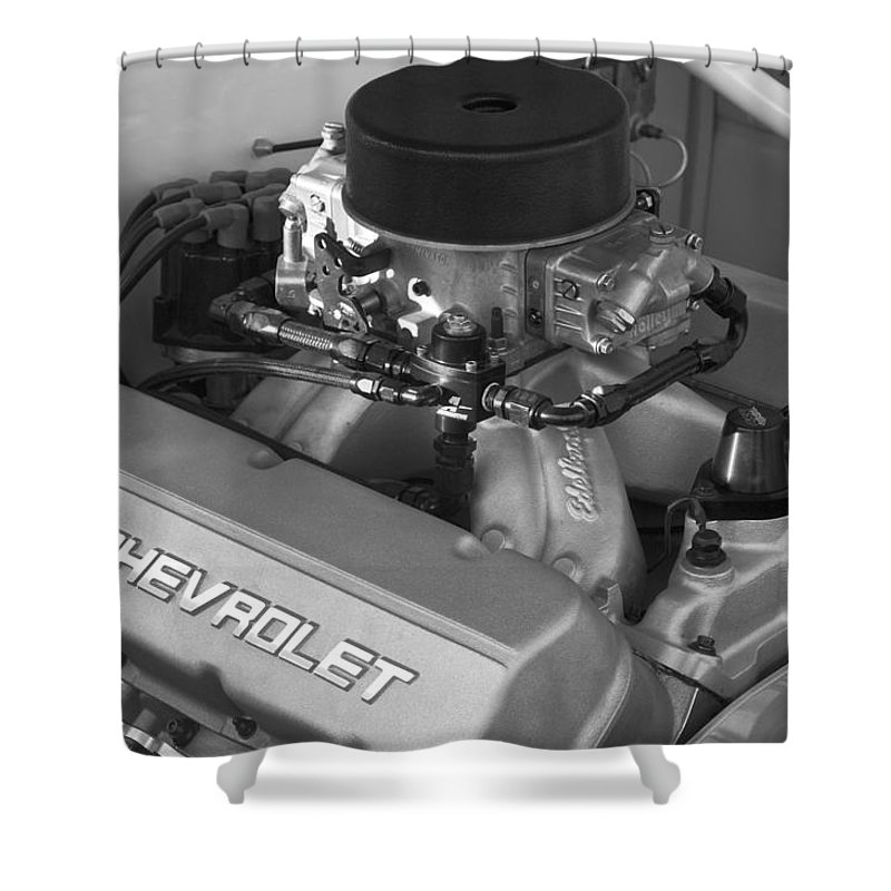 Chevrolet Engine Shower Curtain featuring the photograph Chevrolet Engine by Jill Reger