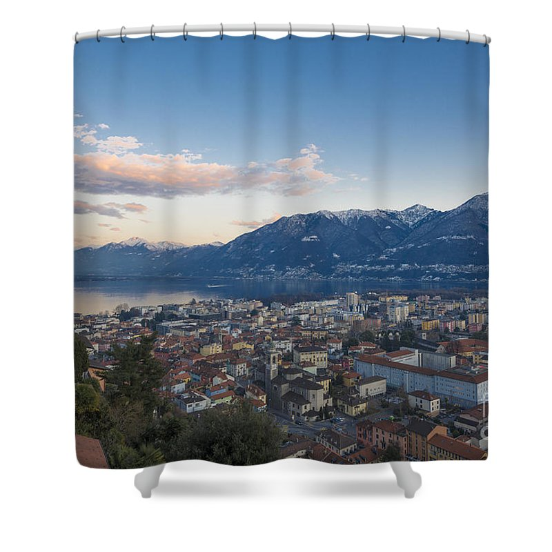 Panoramic View Shower Curtain featuring the photograph Panoramic View by Mats Silvan