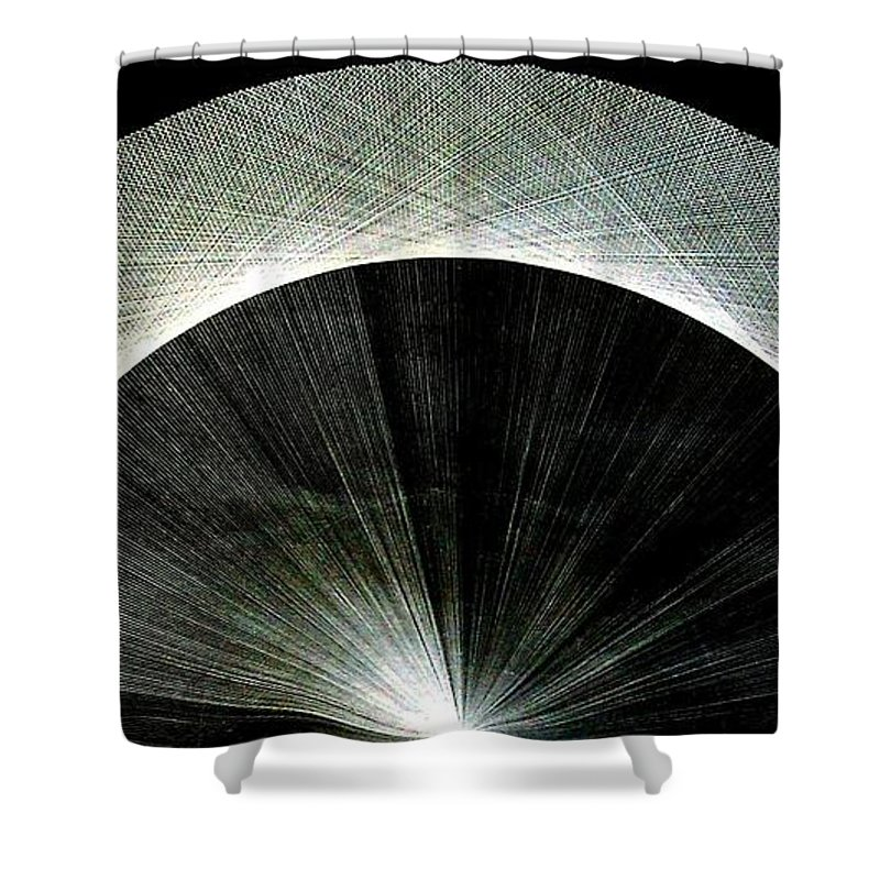 Circle Shower Curtain Featuring The Drawing 720 Pi Half Rainbow By Jason Padgett