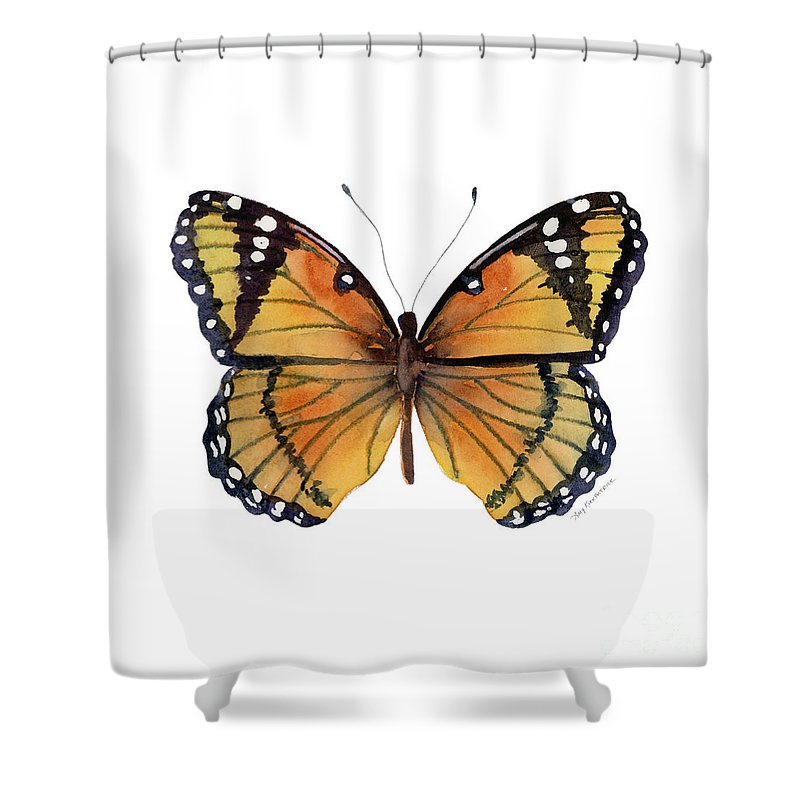 76 Viceroy Butterfly Shower Curtain For Sale By Amy Kirkpatrick