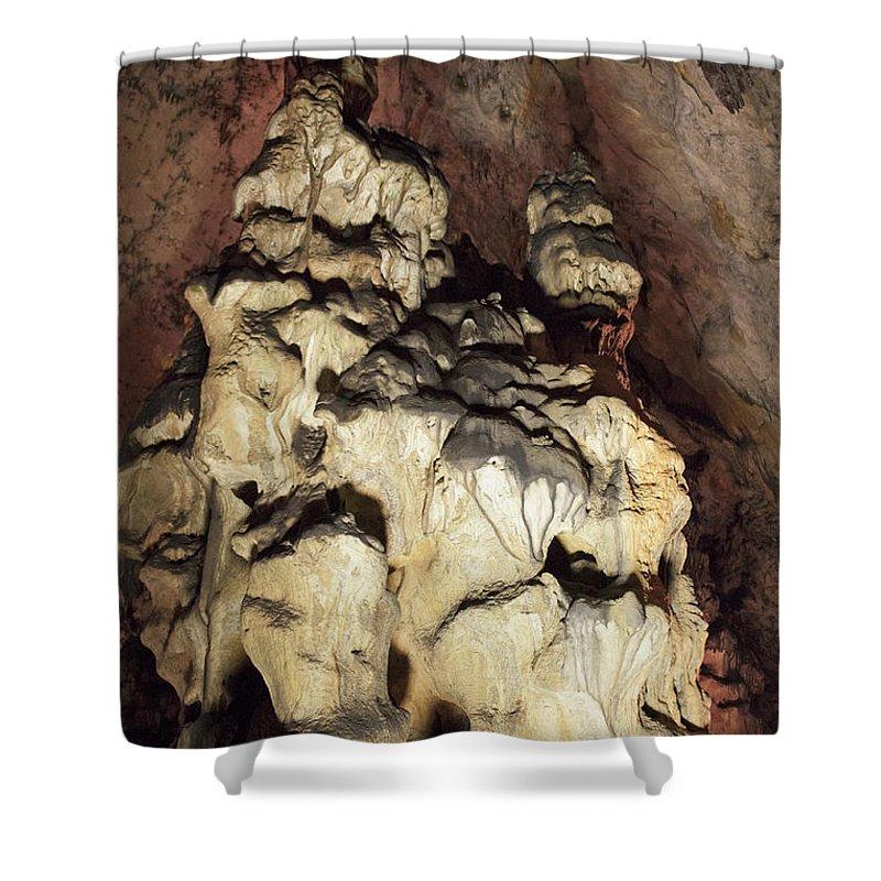 Cave Shower Curtain featuring the photograph Baradla by Daniel Csoka