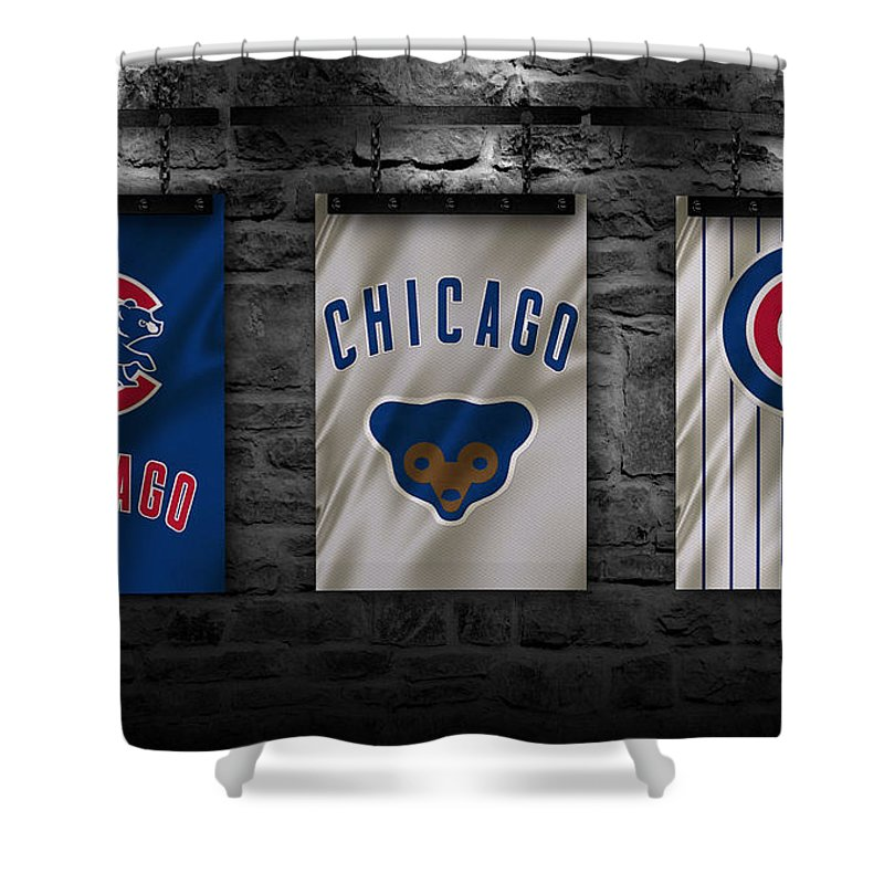 Cubs Shower Curtain Featuring The Photograph Chicago By Joe Hamilton