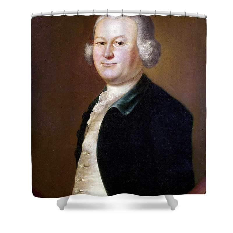 1755 Shower Curtain featuring the painting James Otis (1725-1783) by Granger