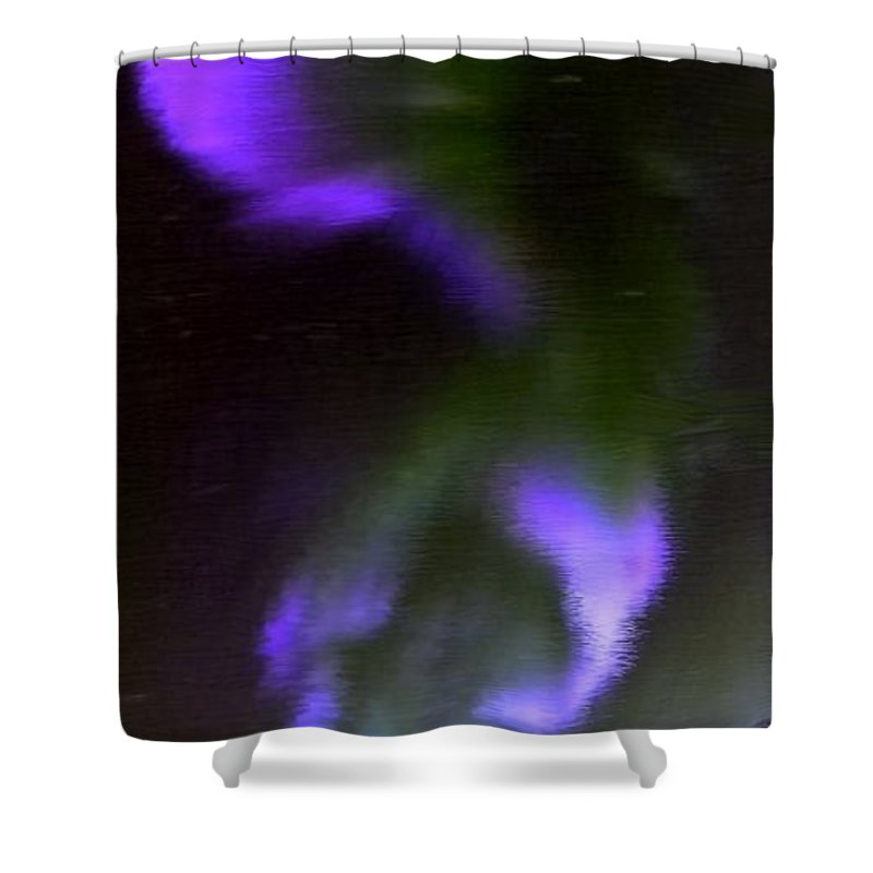 Northern Lights Shower Curtain featuring the painting Northern Lights by Bruce Nutting