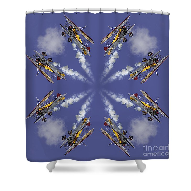 Creative Shower Curtain featuring the photograph 8 Planes by Jerry Fornarotto