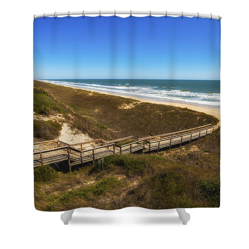 Atlantic Ocean Shower Curtain featuring the photograph Ponte Vedra Beach by Raul Rodriguez