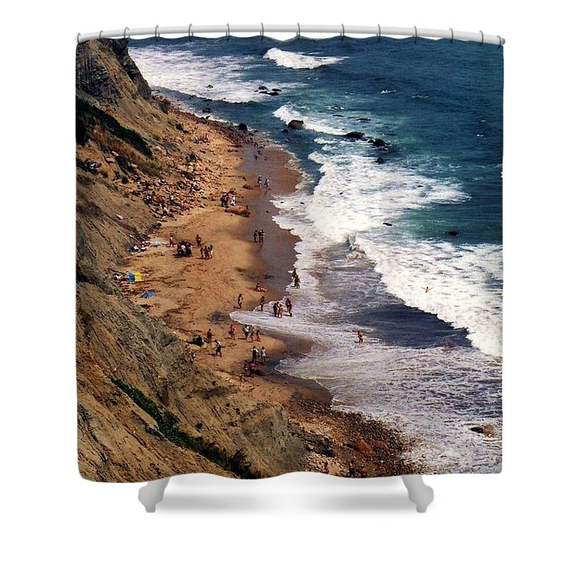 Landscapes Shower Curtain featuring the photograph Block Island by John Scates