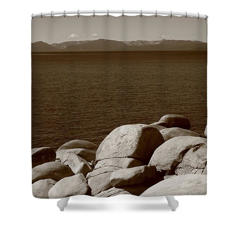 America Shower Curtain featuring the photograph Lake Tahoe by Frank Romeo