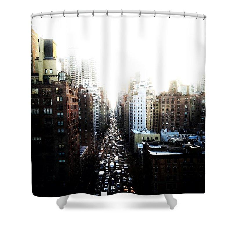 Urban Shower Curtain featuring the photograph Manhattan by Natasha Marco