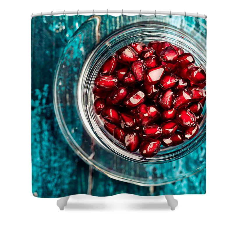 Pomegranate Shower Curtain featuring the photograph Pomegranate by Nailia Schwarz