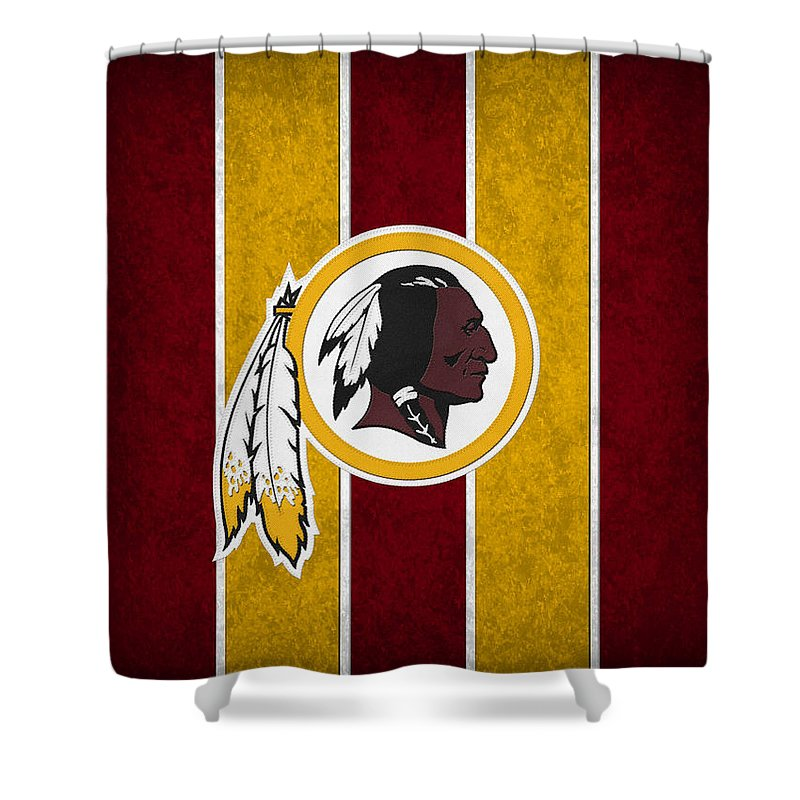 Redskins Shower Curtain Featuring The Photograph Washington By Joe Hamilton