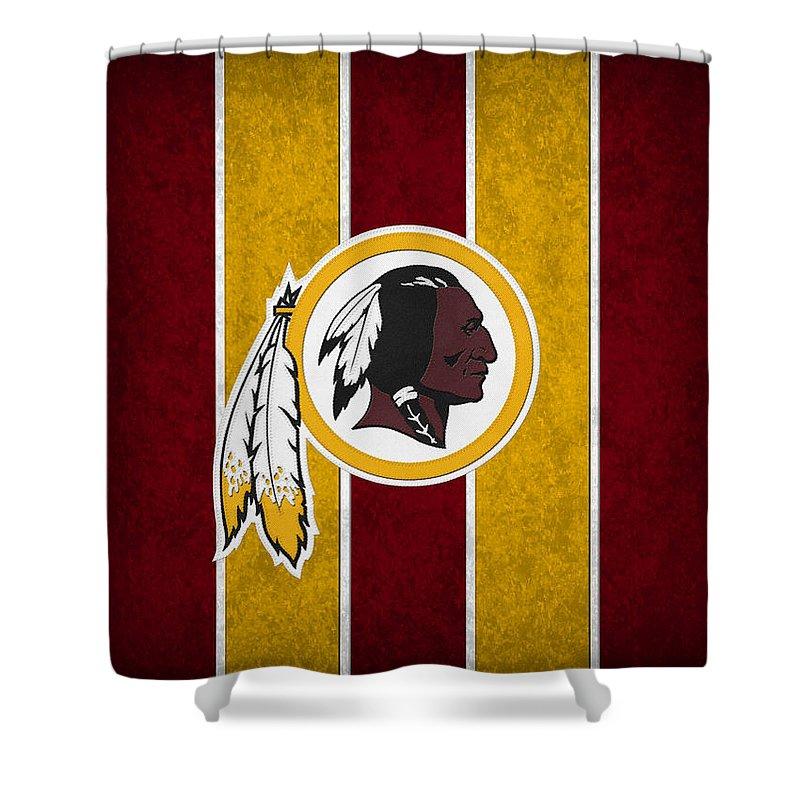 Redskins Shower Curtain featuring the photograph Washington Redskins by Joe Hamilton