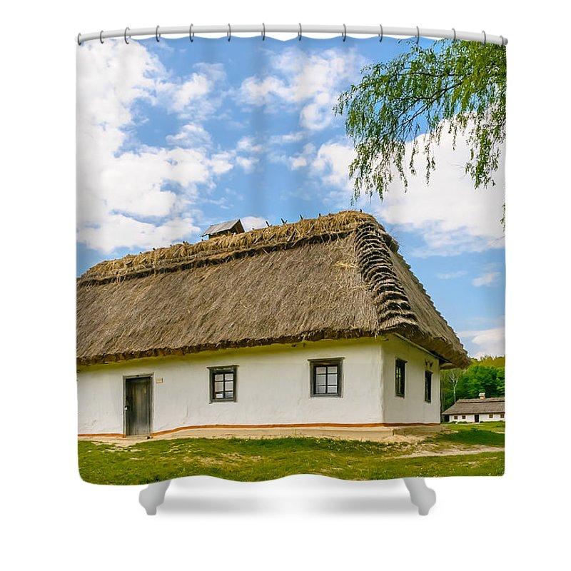 Kiev Shower Curtain featuring the photograph A Typical Ukrainian Antique House by Alain De Maximy