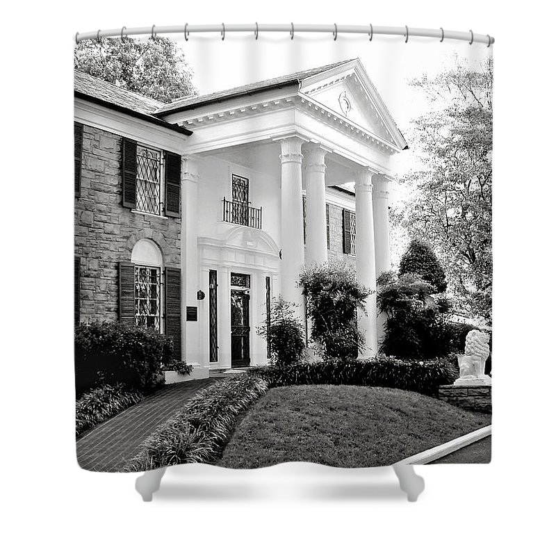 Mansion Shower Curtain featuring the photograph A Bit Of Graceland by Julie Palencia