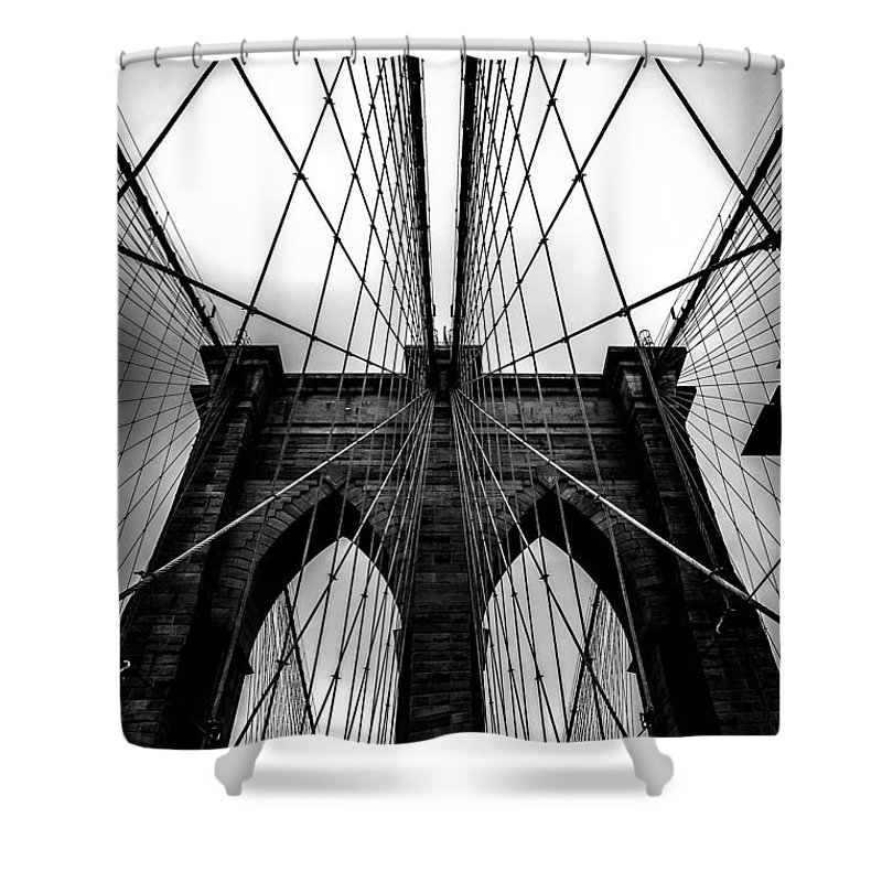 Brooklyn Bridge Arches Shower Curtain featuring the photograph A Brooklyn Perspective by Az Jackson