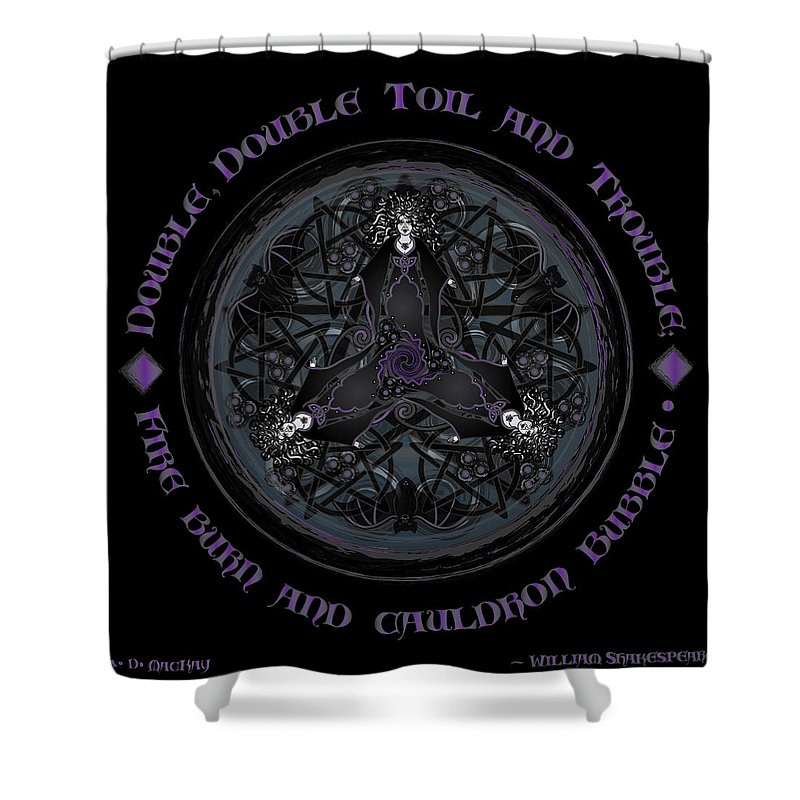 Gothic Art Shower Curtain Featuring The Digital A Celtic Witches Brew By Artist