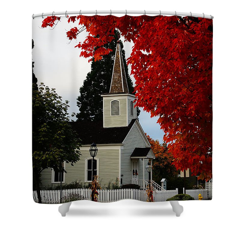 Church Shower Curtain featuring the photograph A Church In Historic Jacksonville by Mick Anderson