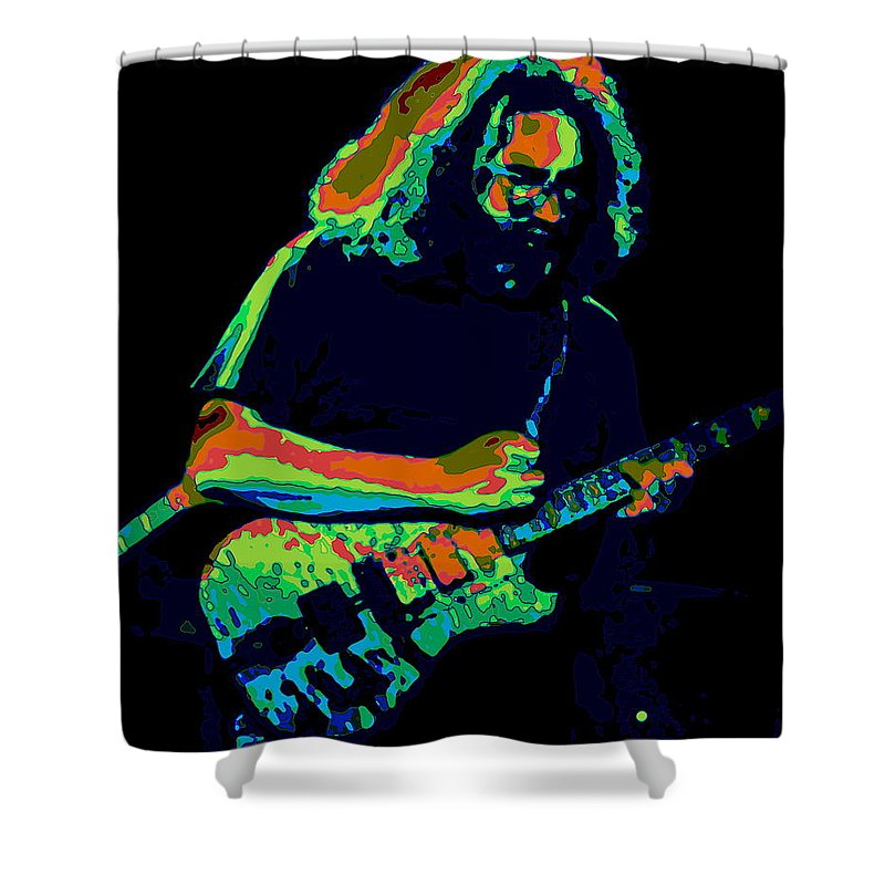 Grateful Dead Shower Curtain featuring the photograph A Cosmic Cat Under The Stars by Ben Upham