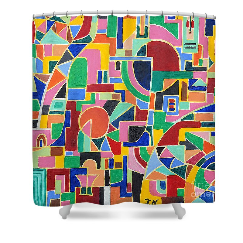 Casino Shower Curtain featuring the painting A Casino In Las Vegas by Taikan Nishimoto