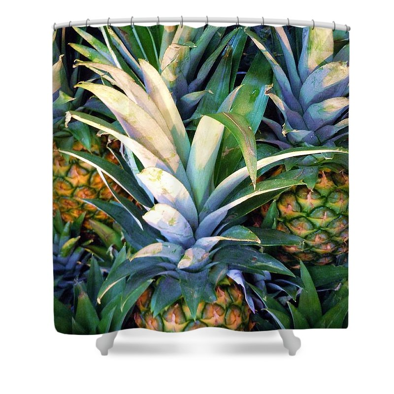 Pineapple Shower Curtain featuring the photograph A Day At The Market #3 by Robert ONeil