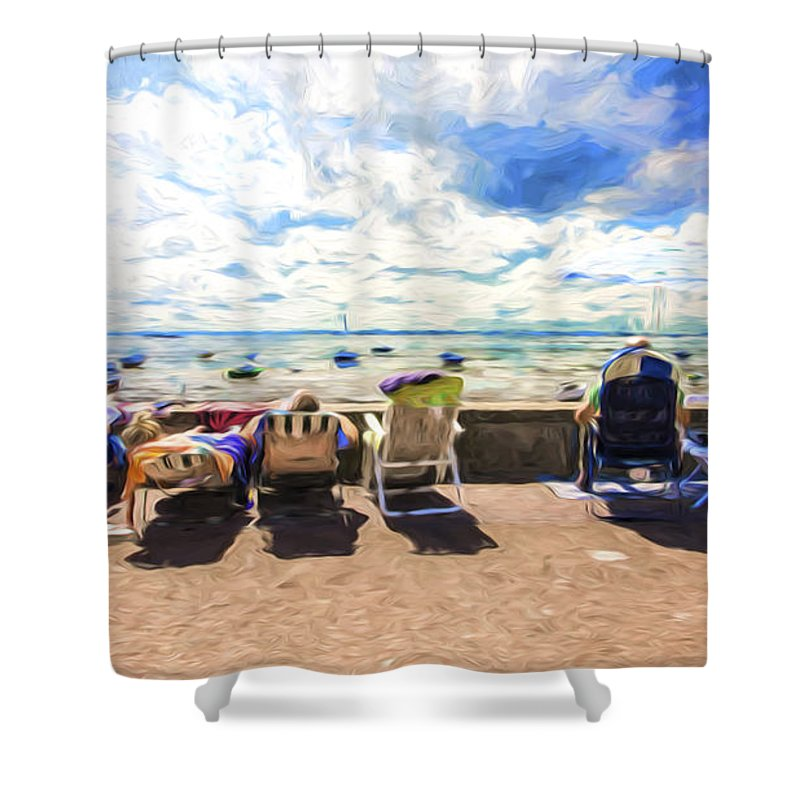 Seaside Shower Curtain featuring the photograph A day at the seafront by Sheila Smart Fine Art Photography