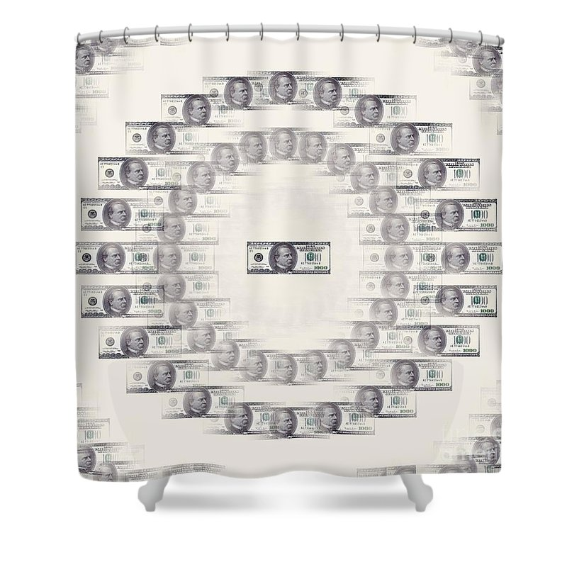 Money Shower Curtain featuring the photograph A Dizzying Amount Of Money by Renee Trenholm