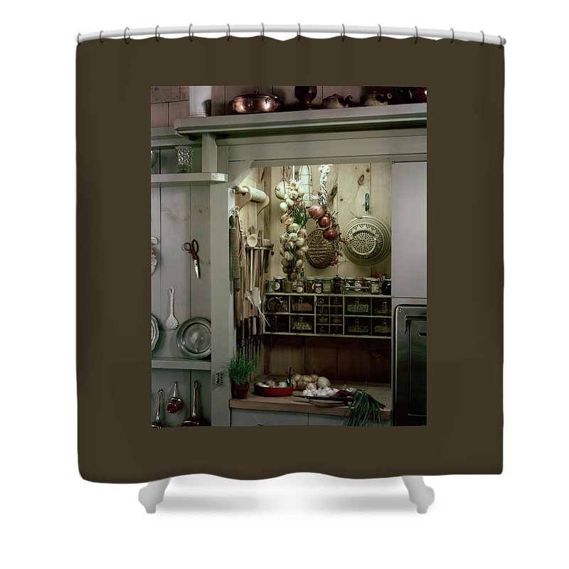 A Full Spice Rack In Kitchen Shower Curtain For Sale By Haanel Cassidy