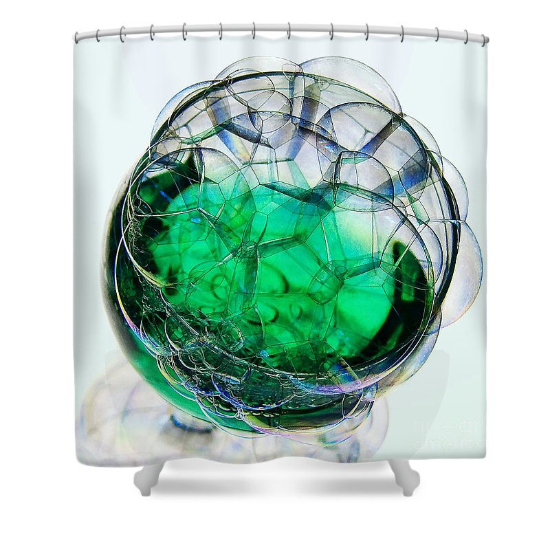 Glass Shower Curtain featuring the photograph A Glass Of Bubbly by Susie Peek