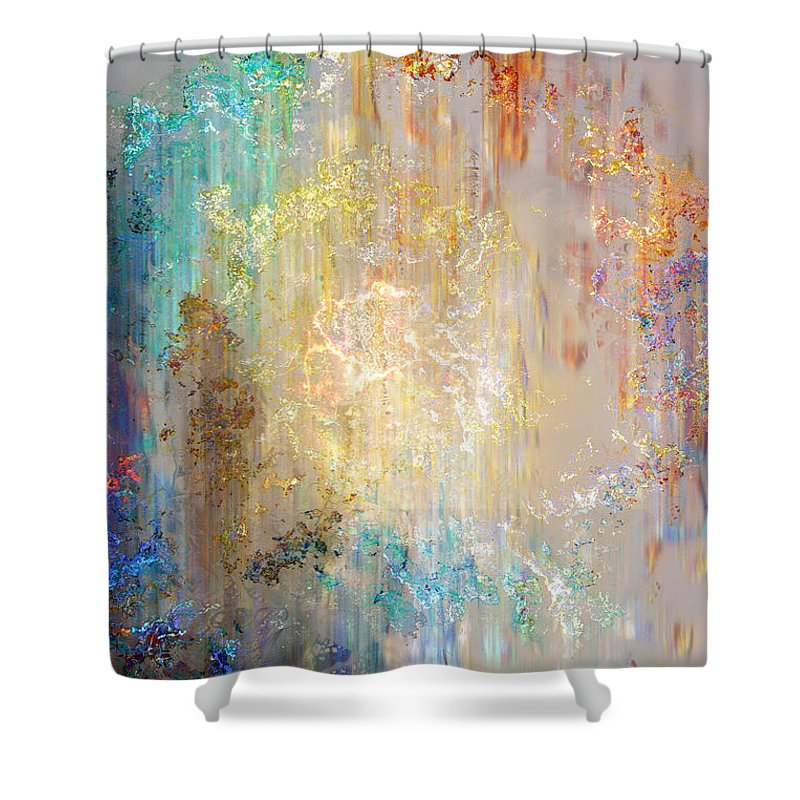 Large Abstract Shower Curtain Featuring The Painting A Heart So Big