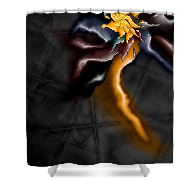 A Journey Within Shower Curtain featuring the digital art A Journey Within by Kimberly Hansen