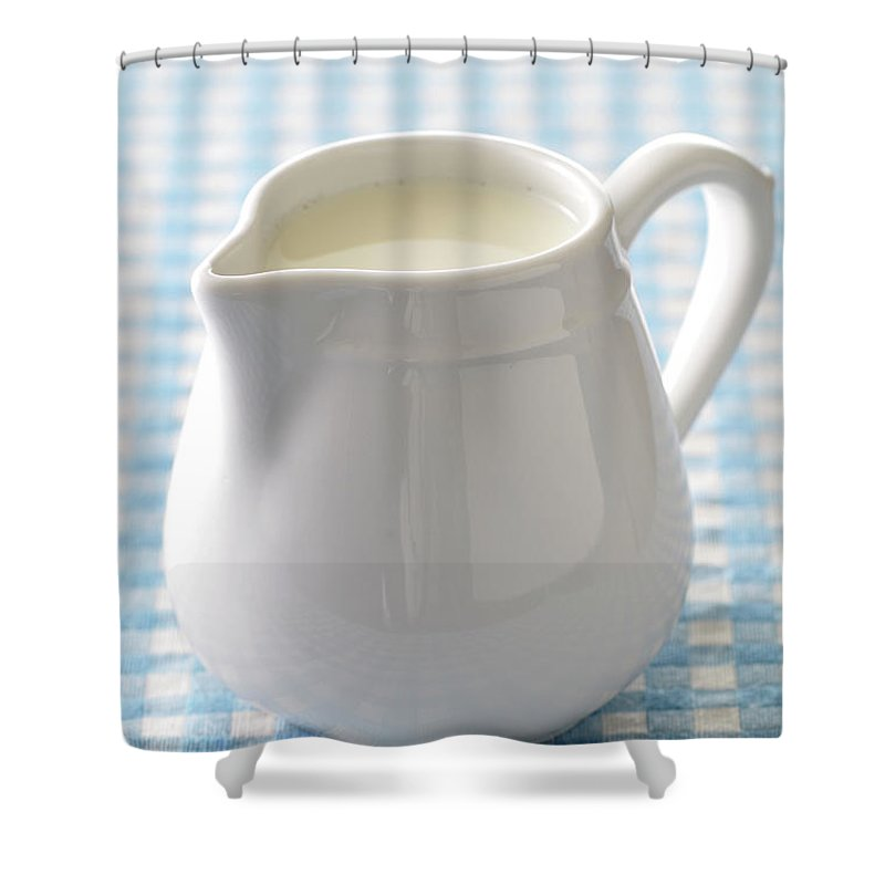 Single Object Shower Curtain featuring the photograph A Jug Of Cream by Riou