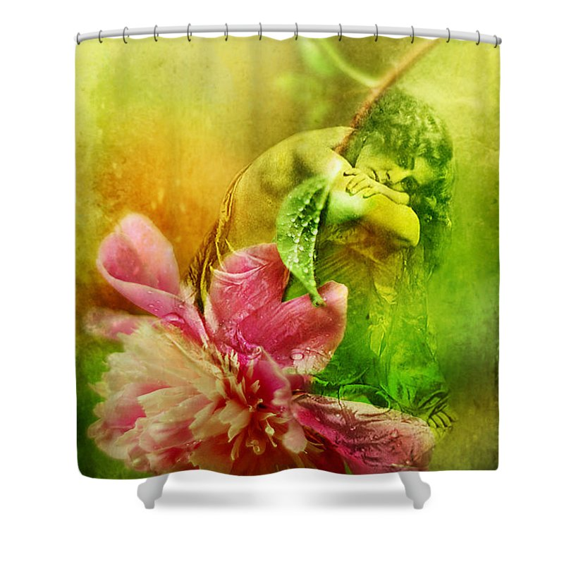 Heirloom Shower Curtain featuring the photograph A Kiss Before Sunset by Rebecca Sherman